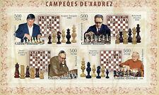 Guinea-Bissau Chess Stamps 2006 MNH Karpov Smyslov Max Euwe Sports 4v M/S I