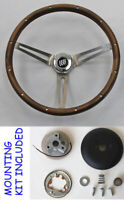 1967 68 Buick Skylark GS GRANT Wood Steering Wheel made from walnut 15""