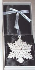 🎁Pandora Christmas Tree Decoration Snowflake Star White Porcelain 2015 RETIRED.
