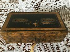 Antique walnut veneer slot money box with working key