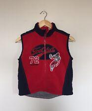 Kids Headquarters Youth Boys Vest Jacket Zip Red Blue Football League Size 6