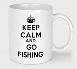Keep Calm And Go Fishing Novelty Coffee Tea Mug Funny Outdoor Life Slogan Cup