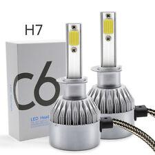 PHILIS COB H7 C6 7600LM 72W LED Headlight Kit Hi/Lo Turbo Light Bulbs 6500K Car