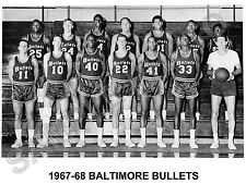 1967-68 BALTIMORE BULLETS 8X10 TEAM PHOTO
