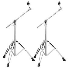 Cymbal Boom Stands Drum Hardware Percussion Double Braced Tripod Holder 2 Packs