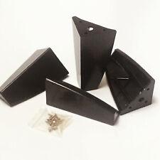 "Set Of 4 Espresso Dark Brown ABS Plastic Furniture Legs Table Sofa Cabinet 5"""