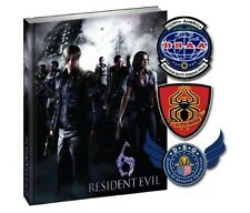 Resident Evil 6 Limited Edition Strategy Guide w/ Patches [Hardcover Book] NEW