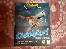 MANCOLISTA FIGURINE CALCIATORI PANINI 2003/04 2004 NUOVE A PARTIRE DA 25 CENT.