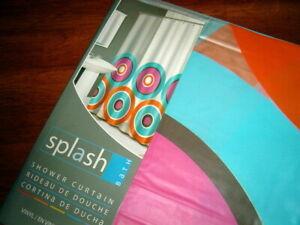 "New Splash Home BIG WHEEL CANDY BONBON Shower Curtain 70"" x 72"""