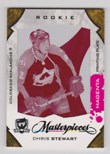 Chris Stewart The Cup Masterpieces MAS-179 Magenta Press Plate NRMT-MT ROOKIE