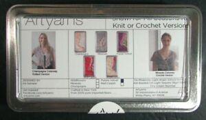 2x Knitting Kit  Shawl For All Seasons(PurpleVelvet)/Loop Scarf(Blue/Cream)-SQ37