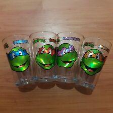 """TMNT Teenage Mutant Ninja Turtles 16oz 6"""" Cups Tumblers Beer Mugs Complete Set"""