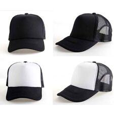 Lady Men Solid Plain Blank Curved Visor Hat Baseball Cap Trucker Mesh Adjustable