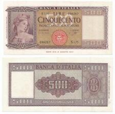 """REPUBBLICA ITALIANA - 500 Lire """"Italia Ornata di Spighe"""" 1961"""