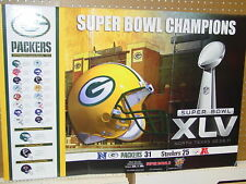 Super Bowl 45 Champions Poster 24 x 36, Green Bay Packers Poster