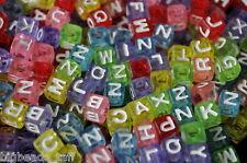500 pcs  cube assorted acrylic alphabet/letter beads 6mm