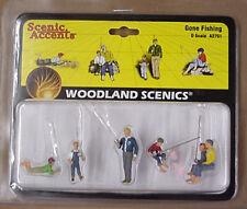 O scale GONE FISHING Woodland Scenics People # 2751