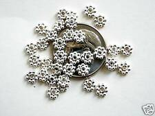 25 Bali Sterling Silver Bright Daisy Spacer Beads - 4mm
