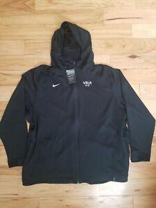 NWT New Mens Nike Therma-Flex Black Full-Zip Hoodie 4XL XXXXL Dri-Fit Vivint NWT
