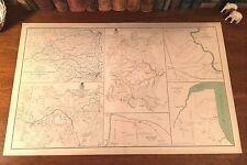 Original Antique Civil War Map APPOMATTOX COURT HOUSE Virginia PETERSBURG Routes
