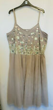 Simply Be Sequin Beaded Pale Pink Strappy Midi Dress Size 18