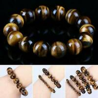 8mm Natural African Roar Natural Tiger's Eye stone Round Beads Bracelet 8''