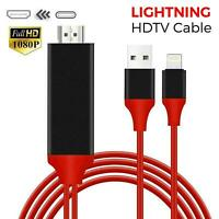 Lightning to HDMI Cable 2M 8 Pin 1080p TV AV Adapter USB Charger For iPhone iPad