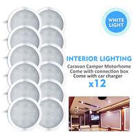 12x 12V Camper Interior LED Spot Lights Car Charger Caravan Boat camper Lamp