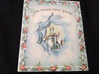 #634 Vintage Birthday Greeting Card 40S Cinderella Castle In The Clouds Beau