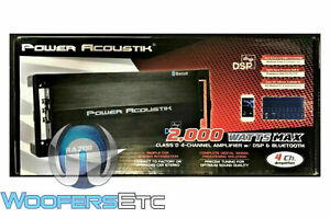 POWER ACOUSTIK RZ4-2000DSPB 4 CHANNEL 2000W BLUETOOTH MOTORCYCLE AMPLIFIER NEW