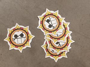 Aztec Sun style sticker pack x 5,