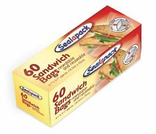 60pk Resealable and Reuseable Sandwich Bags Sealapack - 151 SAP1056