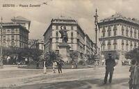 1900's VINTAGE GENOVA - PIAZZA CORVETTO POSTCARD - Monumenti Vittorio Emanuel