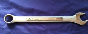 """LS0057 Craftsman 3/4"""" E-40611 SAE Combo Open End/Box Wrench"""