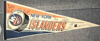 1991-92 NEW YORK ISLANDERS OFFICIAL NHL TEAM SIGNED PENNANT WITH 14 AUTOGRAPHS