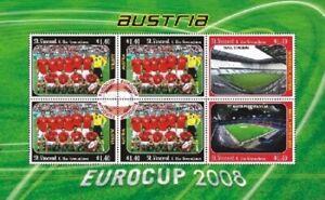 St. Vincent 2008 - SC# 3619 Eurocup Austria, Soccer - Sheet of 6 Stamps - MNH