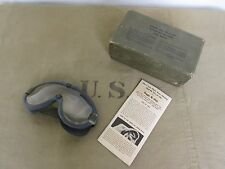 Us army tanker Goggles m-1944 Fury chars lunettes wk2 wwii D-Day stock no 74-g-77