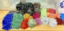 Knitting-370g Lot Fancy Yarn-Fringe-Tinsel-Multi Colour-Crafts-Embellishments-6A