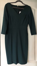 NWT Ann Taylor 3/4 Sleeve Ponte Sheath V Neck Dress - Size 2 Green