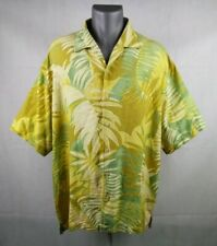 Tommy Bahama Silk Shirt Short Sleeve Button Front Tropical Floral Men's Size XXL