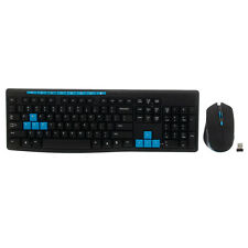 JITE 2.4G  Wireless Optical Mouse and Keyboard Set Black & Blue