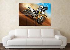 Large Motorcross Dirtbike Crosser Wall Poster Art Picture Print