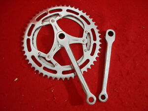 Eclair Chrome Steel 170 mm Cottered Crank Set Road 52 / 40 Used