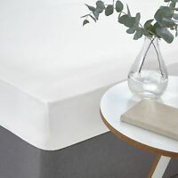 White 100% Egyptian Cotton Sateen Luxurious 400 Thread Count Fitted Bed Sheet