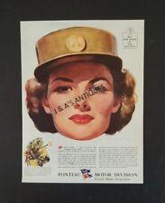 1944 The Saturday Evening Post Magazine WAC Advertisement ~ WWII ~ Buy War Bonds