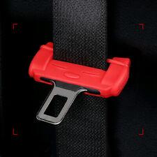 1Pc Car Safty Accessories Seat Belt Buckle Clip Silicone Anti-Scratch Cover Red
