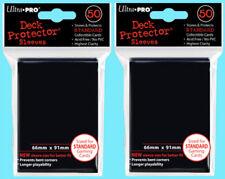 100 Ultra Pro BLACK DECK PROTECTOR Card Sleeves NEW standard size magic mtg ccg
