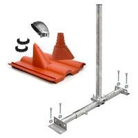 Dachsparrenmasthalter SAT Mast Sparrenhalter Dachsparrenhalter Dach-Montage Set