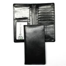 Leather Rodeo Wallet / Roper Wallet / Long Wallet - Black
