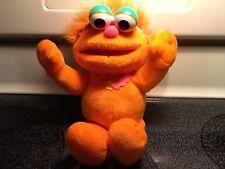 """2001 MATTEL Sesame Street ZOE Elmo Friendly Monster Orange Plush 12"""""""